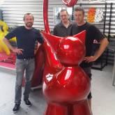 Fibula - Sculpture en Resine - Artiste LOLEK